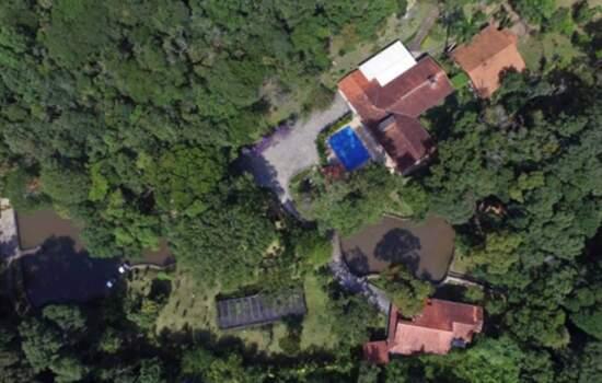 Imagem aérea do sítio em Atibaia (SP)