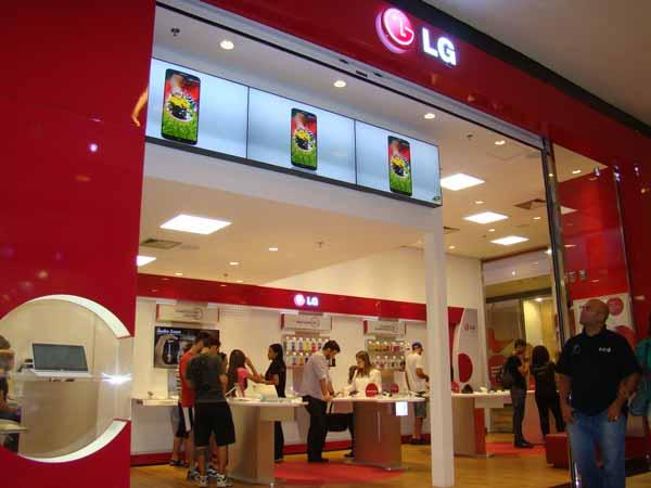 É a primeira loja própria da LG especializada em celulares do País