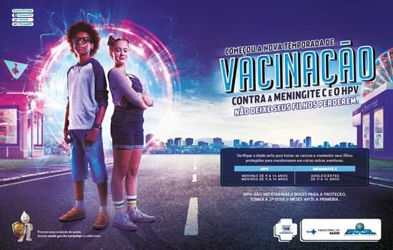Ministério da Saúde convoca para vacinação contra HPV e Meningite