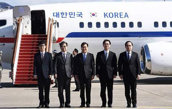 Histórico. Kim Jong-un recebe delegação da Coreia do Sul em Pyongyang