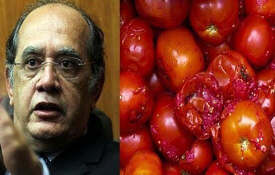 Resultado de imagem para Gilmar Mendes é recebido com tomates ao chegar a evento em SP