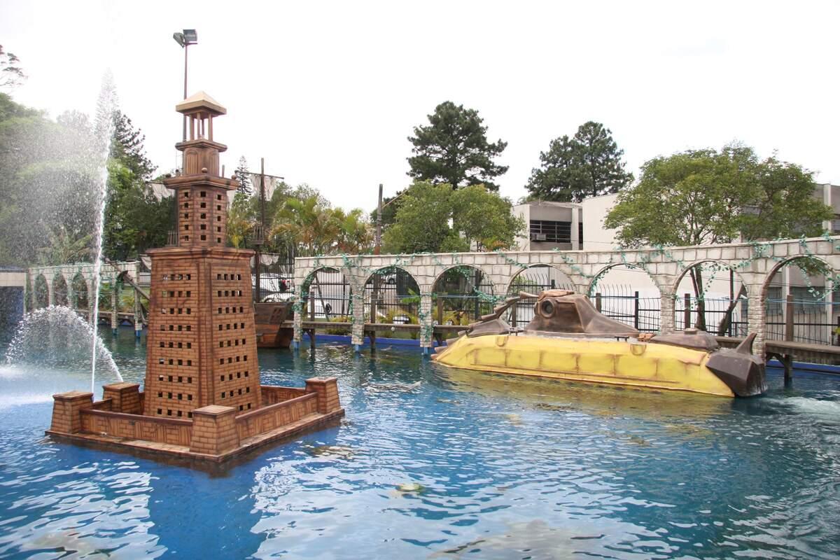 O Brinquedo Submarino é uma das atrações mais visitadas